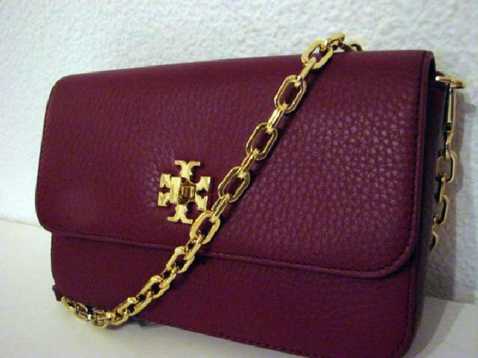 83f842d63575 Tory Burch Mercer Classic (Deep Berry) Shiraz Leather Cross Body Bag -  Tradesy