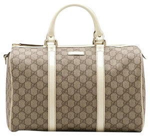 Gucci Satchel in Beige and Brown GG