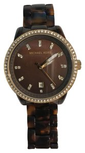 Michael Kors tortoise shell gold watch