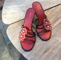 Isabella Fiore Brown & Red Sandals Image 1