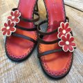 Isabella Fiore Brown & Red Sandals Image 2