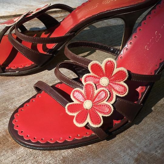 Isabella Fiore Brown & Red Sandals Image 3