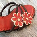 Isabella Fiore Brown & Red Sandals Image 4