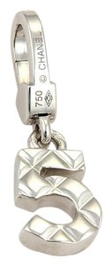 Chanel Quilted No. 5 Design Charm in 18k White Gold
