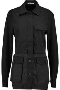 Alexander Wang Button Down Longsleeve Cotton Loose Fit black Jacket