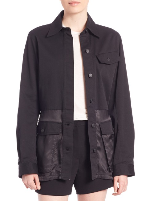 Alexander Wang Button Down Longsleeve Cotton Loose Fit black Jacket Image 10