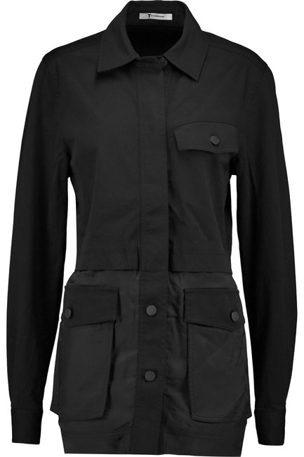 Alexander Wang Button Down Longsleeve Cotton Loose Fit black Jacket Image 8