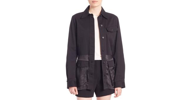 Alexander Wang Button Down Longsleeve Cotton Loose Fit black Jacket Image 9