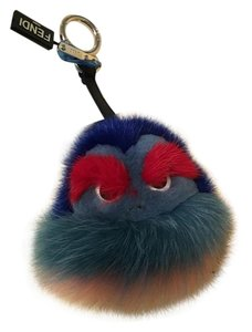 Fendi NWT Fendi Kid BB Bag Bug Monster Charm Mink and Fox Fur