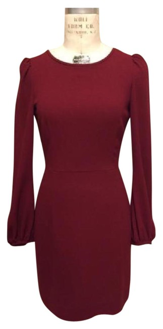 Preload https://img-static.tradesy.com/item/21836340/zara-deep-red-key-hole-mid-length-workoffice-dress-size-0-xs-0-2-650-650.jpg