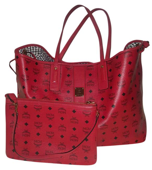 Item - Large Reversible Project Visetos Shopper Meninges Red Leather Tote