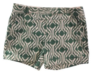 Banana Republic Patterned Multicolor Dress Shorts green/white