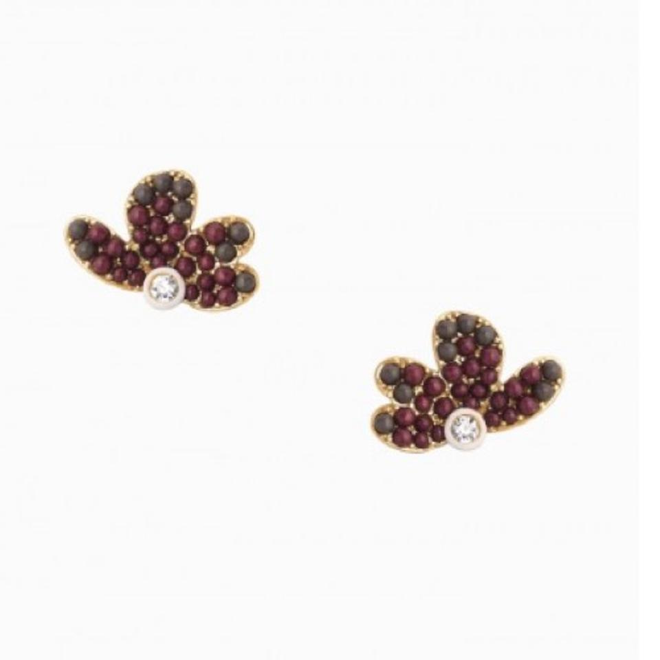 Stella dot brown burgundy clear lindsey chandeliers earrings tradesy 123 arubaitofo Choice Image