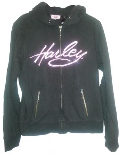 Preload https://item3.tradesy.com/images/harley-davidson-black-with-pink-rhinestone-embelishments-hoodie-activewear-size-12-l-21837-0-0.jpg?width=400&height=650