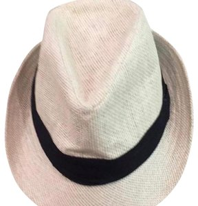 Francesca's White Fedora with Black Accent