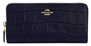 Coach Coach ACCORDION ZIP WALLET IN CROC EMBOSSED LEATHER F 54757 54630 NWT