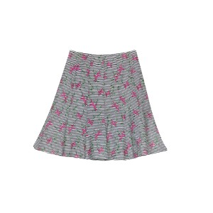 Nanette Lepore Floral Striped Skirt Multi