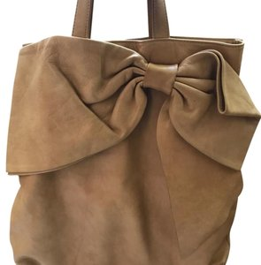RED Valentino Leather Bow Tote in caramel