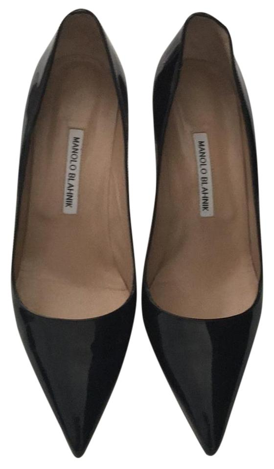 Manolo Pumps Blahnik Black Patent Leather Pumps Manolo fd7c0c