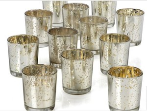 Silver Mercury Glass Votives - 9 Sets Of 12 (108 Total)
