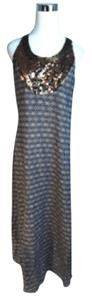 brown and ivory Maxi Dress by Tory Burch