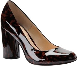 Isola Cinnamon Brown Leopard Patent Pumps