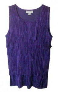 Dress Barn Sleeveless. Evening Top Purple/Blue
