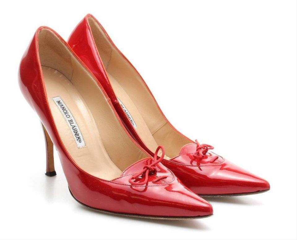 75666511f5f Manolo Blahnik Red  kirby  Patent Leather - Pumps. Size  EU 40 (Approx. US  10) Regular (M ...