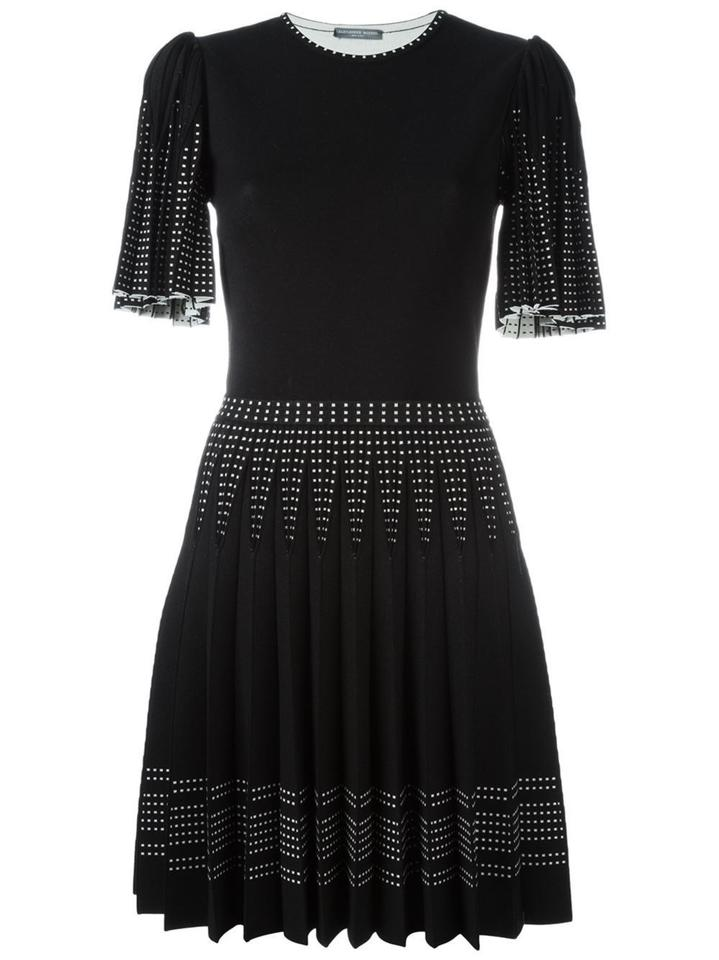 Alexander Mcqueen New Fit And Flare Intarsia Stretch Knit Formal
