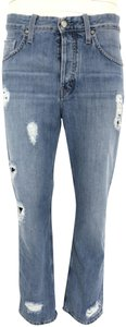 MiH Jeans Straight Leg Jeans-Distressed