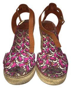 Tory Burch Espadrille lillypad (pink and purple frogs) Wedges