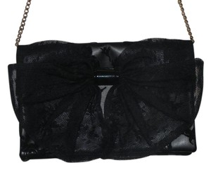 6b0114dcd410 RED Valentino Bow Purse Black Leather Cross Body Bag - Tradesy