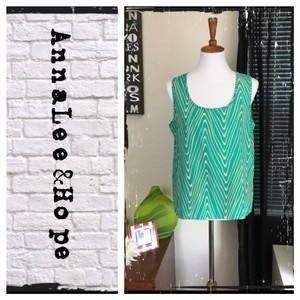 Annalee + Hope Top Sea Green/Cream