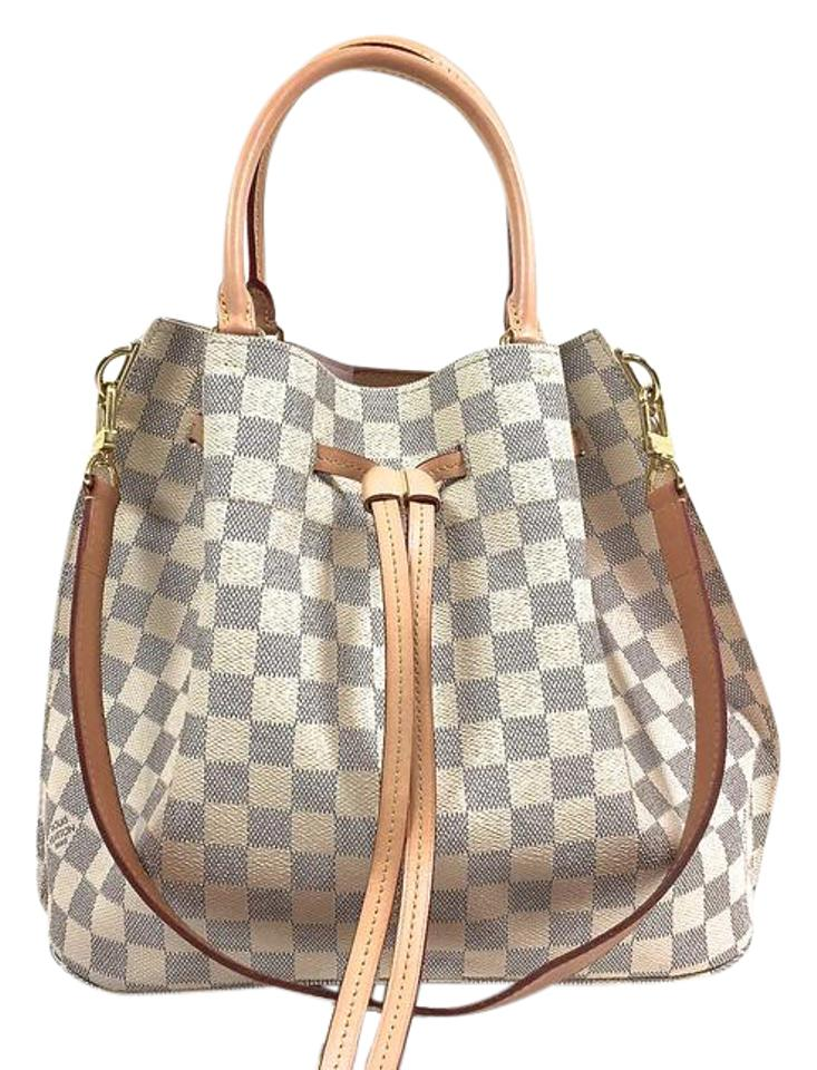740d27027ee0 Louis Vuitton Girolata White Damier Azur Shoulder Bag - Tradesy