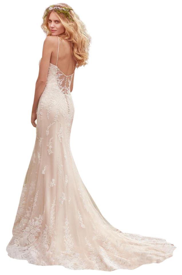 Maggie Sottero Ivory Over Light Champagne/Pewter Accent Satin with ...
