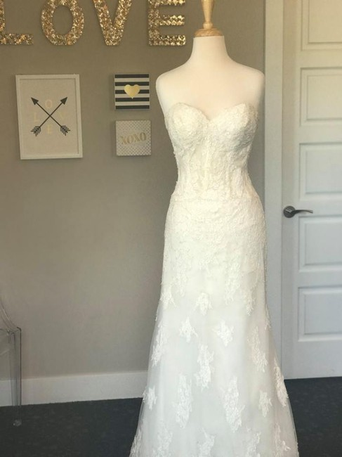 Wtoo Ivory Alencon Lace Tulle Bristol (Unlined) Wedding Dress Size 10 (M) Wtoo Ivory Alencon Lace Tulle Bristol (Unlined) Wedding Dress Size 10 (M) Image 1