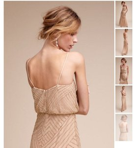 Adrianna Papell Rose Gold Adrianna Papell Sophia Beaded Gown (bhldn) Dress