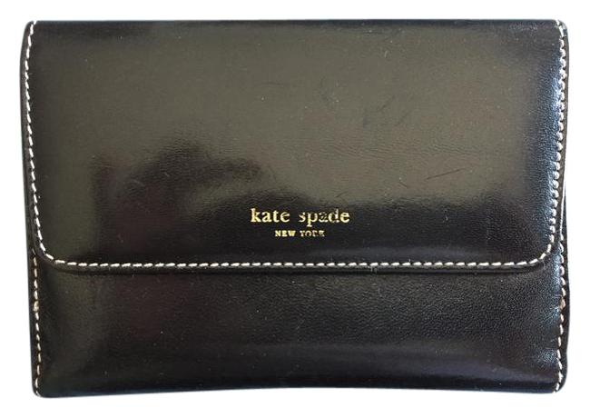 Kate Spade Black Made In Italy Leather Wallet Kate Spade Black Made In Italy Leather Wallet Image 1