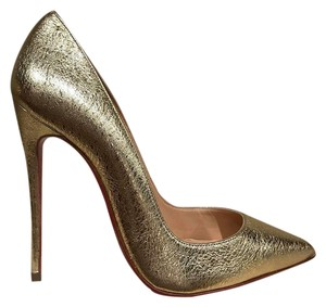 Christian Louboutin Sokate Kate Pigalle Stiletto gold Pumps