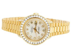 Rolex President 26MM Datejust 18K Yellow Gold 69178 Diamond Watch 3.5 Ct