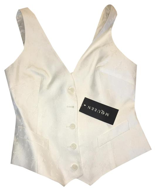 Item - White Fitted Vest Size 4 (S)