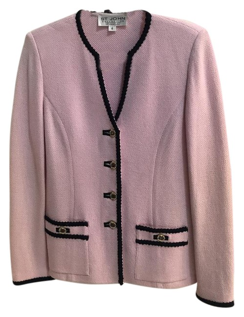 Item - Pink and Navy Skirt 4 Suit Jacket Size 6 (S)