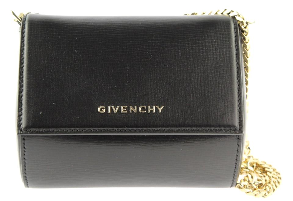 d7057df81c Givenchy Box Pandora Micro Chain Black Leather Shoulder Bag - Tradesy
