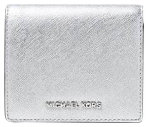 Michael Kors Jet Set Travel Metallic Leather Card Holder