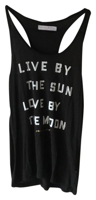 Item - Black White Gold Live By The Sun Love By The Moon Activewear Top Size 4 (S)