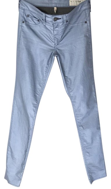 Item - Blue Coated Metallic Skinny Jeans Size 27 (4, S)