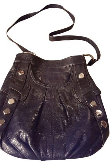 B Makowsky Handbag Purse Black Leather