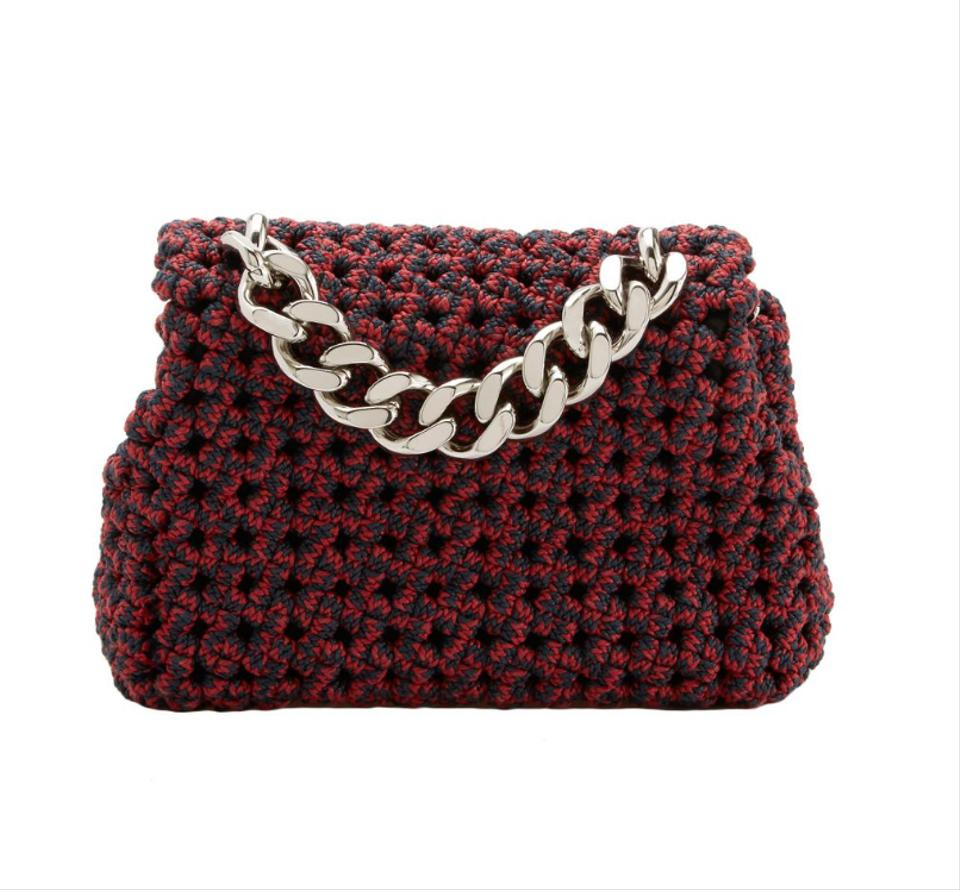 a462e51062 Stella McCartney Handle Mini Crossbody Tote in red and navy Image 6. 1234567