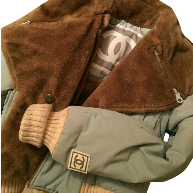 Item - Brown/Blue Puffer Winter Coat Size 4 (S)