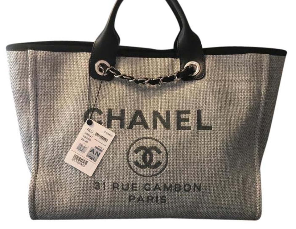 7ced2932df5d Chanel Neverfull Extra Large Deavuille Tote in Grey and Black Image 0 ...